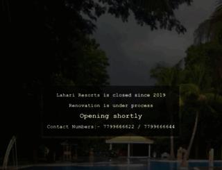 lahariresorts.com screenshot