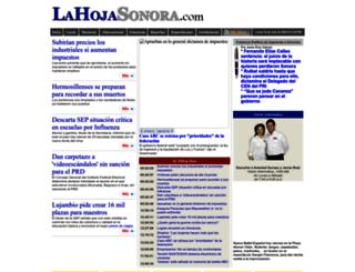 lahojasonora.com screenshot