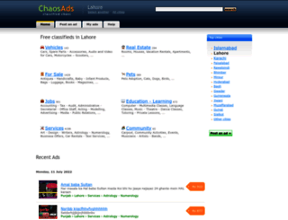 lahore.chaosads.pk screenshot