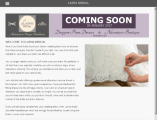 laimabridal.co.uk screenshot