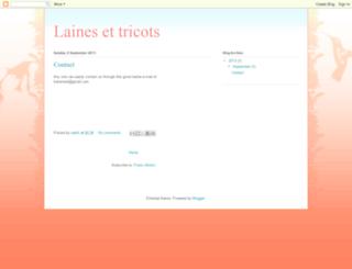 laines-et-tricots.blogspot.com screenshot