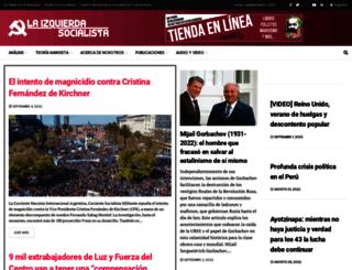 laizquierdasocialista.org screenshot