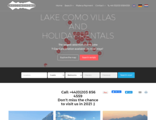 lakecomohomes.com screenshot