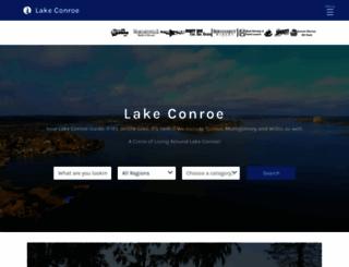 lakeconroe.com screenshot