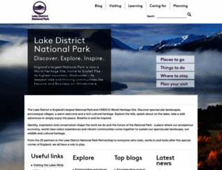 lakedistrict.gov.uk screenshot