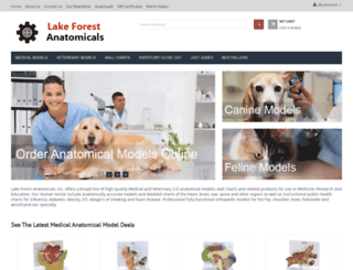 lakeforestanatomicals.com screenshot