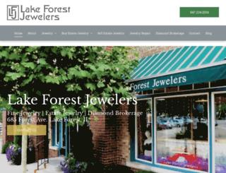 lakeforestjeweler.com screenshot