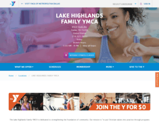 lakehighlandsymca.org screenshot