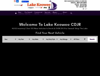 lakekeoweechryslerdodge.com screenshot