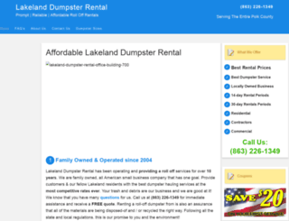 lakelanddumpsterrental.net screenshot
