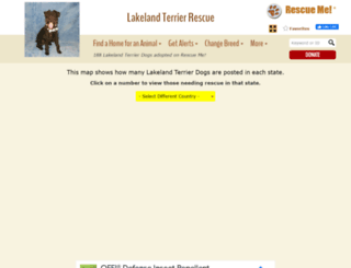 lakelandterrier.rescueme.org screenshot