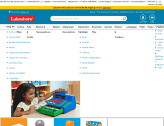 lakeshorelearning.com screenshot
