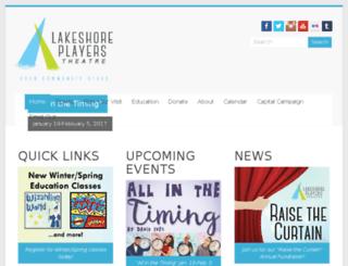 lakeshoreplayers.com screenshot