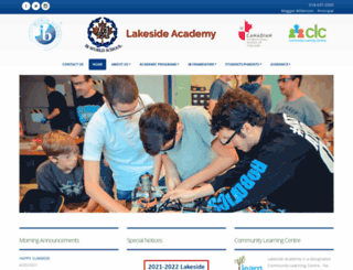 lakesideacademy.lbpsb.qc.ca screenshot