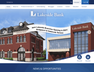 lakesidebank.com screenshot