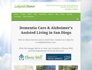lakesidemanor.org screenshot