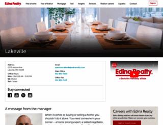 lakeville.edinarealty.com screenshot