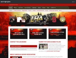 lakevillehockey.org screenshot
