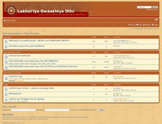 lakotadictionary.org screenshot