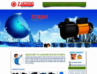 lakshmipumps.com screenshot