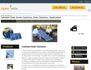 lakshmisolar-hyderabad.apnaindia.com screenshot