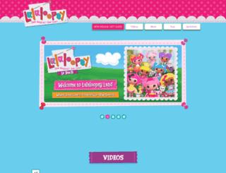 lalaloopsy.mgae.com screenshot