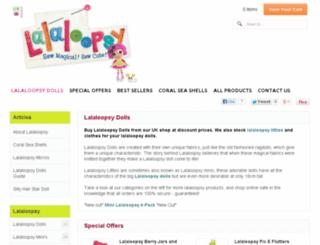 lalaloopsydolls.co.uk screenshot