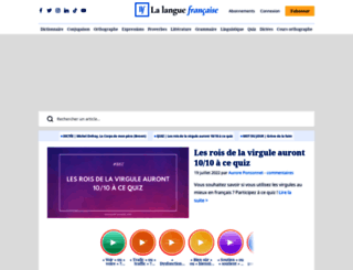 lalanguefrancaise.com screenshot