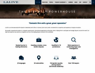 lalive.ch screenshot
