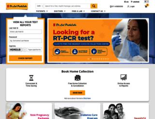 lalpathlab.com screenshot