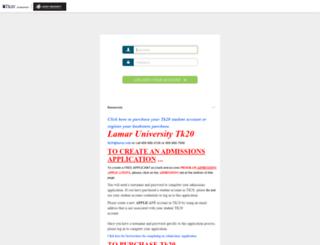 lamar.tk20.com screenshot