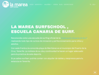 lamareasurfschool.com screenshot