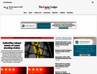 lamarledger.com screenshot