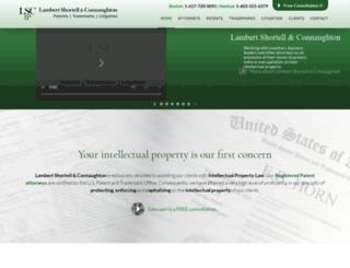 lambertpatentlaw.com screenshot