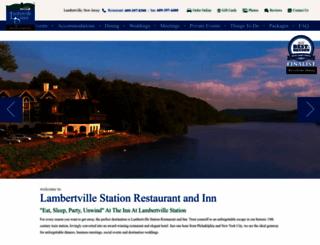 lambertvillestation.com screenshot