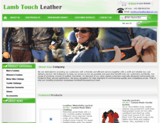 lambtouchleather.com screenshot