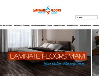 laminatefloorsmiami.com screenshot