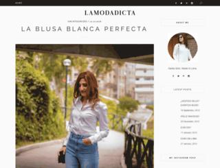 lamodadicta.com screenshot