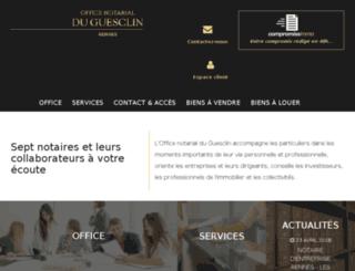 lamotte-laisne-gueguen-notaires.fr screenshot