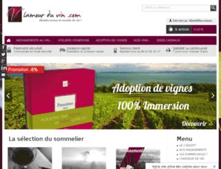 lamourduvin.wizishop.com screenshot