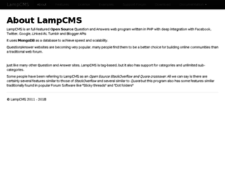 lampcms.com screenshot