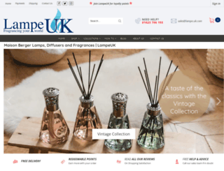 lampe.uk.com screenshot