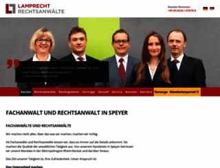 lamprecht-rechtsanwaelte.de screenshot