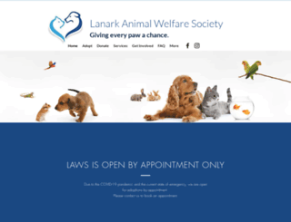 lanarkanimals.ca screenshot