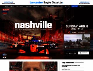 lancastereaglegazette.com screenshot