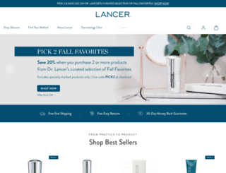 lancerdermatology.com screenshot