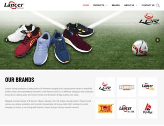 lancerfootwear.in screenshot