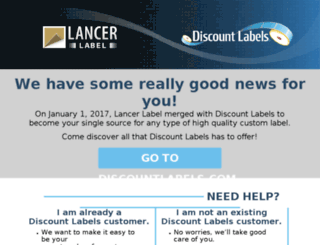lancerlabel.clickprint.com screenshot