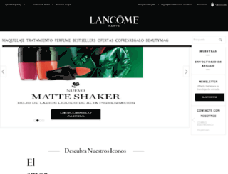 lancomespain.com screenshot