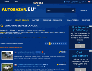 land-rover-freelander.autobazar.eu screenshot